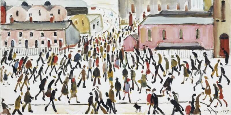 Going to Work, L S Lowry