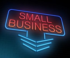 Small business neon sign